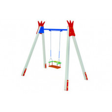КАЧ-1.8 Рама для подвесных качелей и сиденье резиновое со спинкой К-1.01