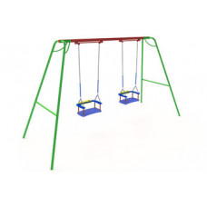 КАЧ-1.13 Рама для подвесных качелей и сиденье резиновое со спинкой К-1.01