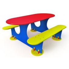 """МФ-1.33 - Детский столик """"Овальный"""""""